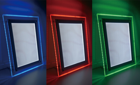 RGB ライトパネル イメージ